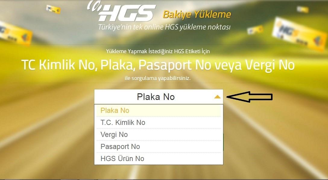 ptt hgs yükle adım 1