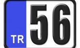 56 Plaka Kodu Nerenin?